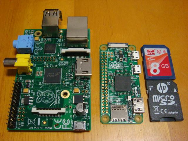 初代BとzeroとSDカード
